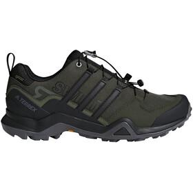 adidas TERREX Swift R2 Gore-Tex Hiking Shoes Waterproof Men, real teal/core black/solar slime